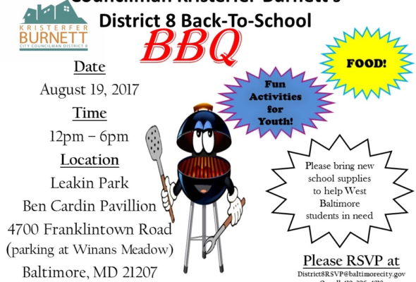 District 8 Back To School Drive Cookout