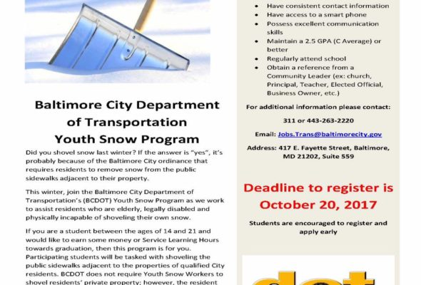 Baltimore City Youth Snow Program 2017-18