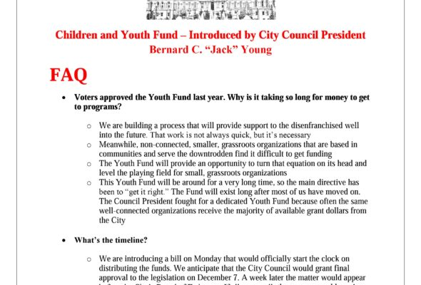 Info: Baltimore City Youth Fund