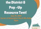 District 8 Resource Tent – 7/19