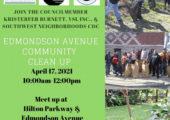 Edmondson Ave. Community Clean Up
